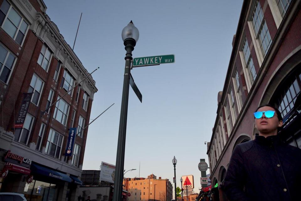 The Red Sox would like to see Yawkey Way changed back to Jersey Street.